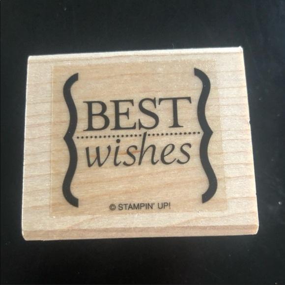 """3/$20 Stampin' Up!   2004 """"Best Wishes"""" Stamper"""